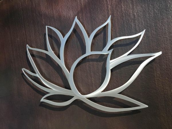 bdc559a54a Stainless Steel Laser Cut Reusable Lotus Flower design wall art ...