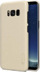 Nillkin Frosted Shield Hard Case Cover with Screen Protector for Samsung Galaxy S8 - Gold
