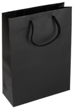 306d32ee0b62 Black paper bags with rope handle package of 12Pcs