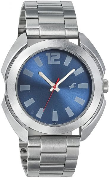 Buy Fastrack Men's Blue Dial Metal Band Watch - 3117SM02 ...