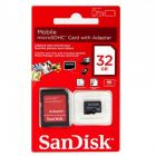 Sandisk 32 GB Class 4 Micro SDHC Card with Adapter  (Memory Card)