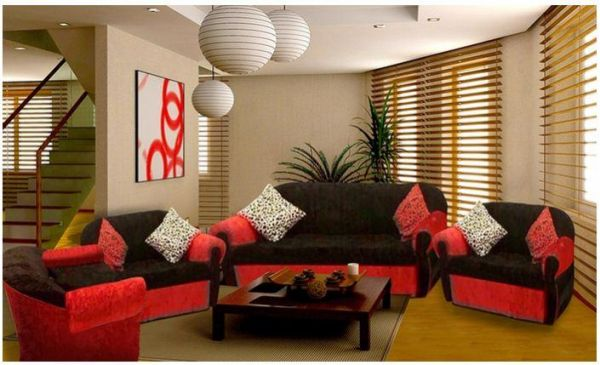 Royal 4 Piece Modern Living Room Sofa Set
