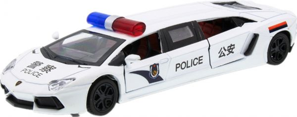 Extended Version Of Lamborghini Police Car Alloy Toy Model Souq