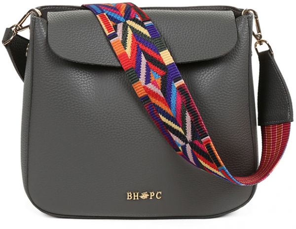 Beverly Hills Polo Club Crossbody Bag For Women Grey