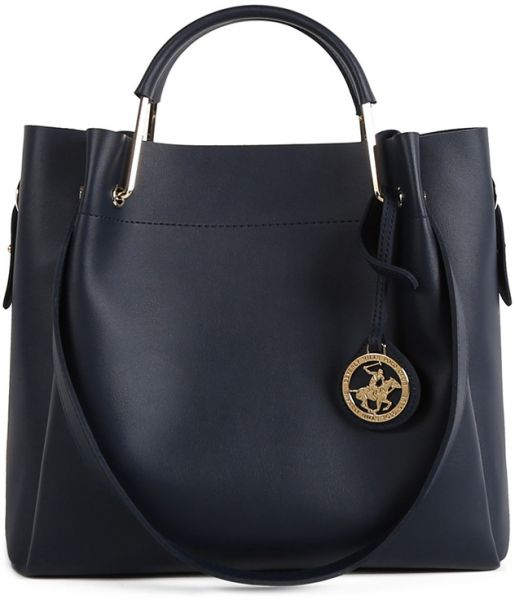 Beverly Hills Polo Club Bag For Women Dark Blue Handbags Sets