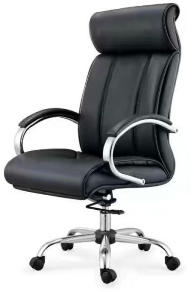 souq high back office chair with steel frame and pvc leather model