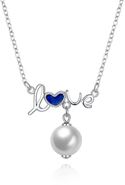 Souq sterling silver necklace jewelry 925 sterling silver love sterling silver necklace jewelry 925 sterling silver love pearl pendant necklace for women aloadofball Gallery