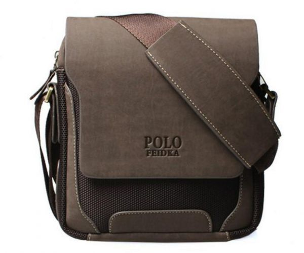 Feidika Polo Bag For Men Brown Messenger Bags