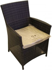 rattan dining chair brownbeige - Garden Furniture Dubai
