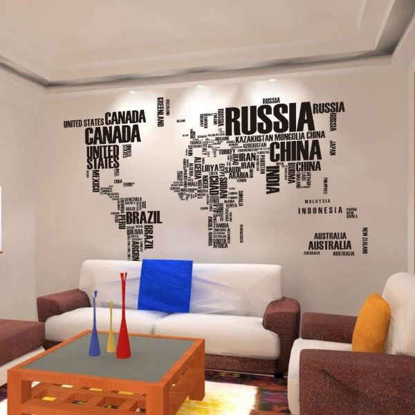 Buy wallpapers world map letters english combination text cool large buy wallpapers world map letters english combination text cool large background meeting room window wall stickers ksa souq gumiabroncs Choice Image
