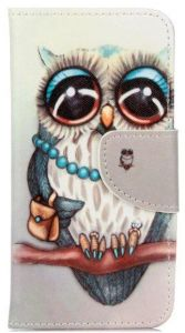 Samsung Galaxy A5 2017- Pretty Magnet PU Leather Wallet Card Slot Case Cover -Aristocratic owl
