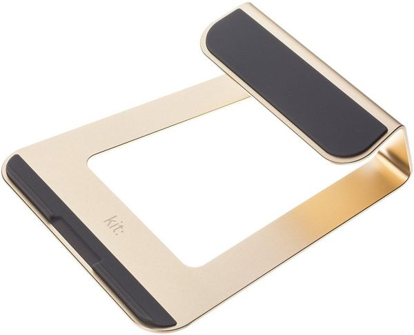 Kit Strong Ergonomic Aluminium Laptop Stand for Macbook - Gold