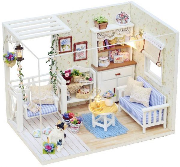 DIY Miniature Wooden Doll House Furniture Kits Toys Handmade Craft  Miniature Model Kit Toys Gift For Children