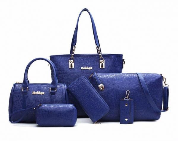 Mei Ge Bag For Women Blue Handbags Sets