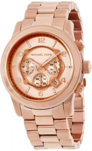 2f7c529514e2 Michael Kors Runway Men s Rose Gold Dial Stainless Steel Band Watch - MK8096