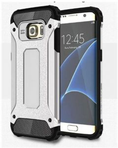 Samsung Galaxy S7 Edge Case Hybrid Armor Shockproof and &Dropproof Rugged Defender Case for Samsung Galaxy S7 Edge (Silver)