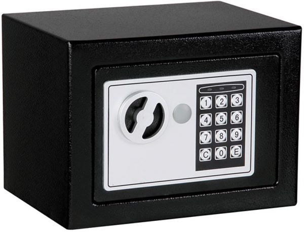 Solid Steel Digital Electronic Keypad Lock Safe for Home and Office Security with Keyless Entry - Black