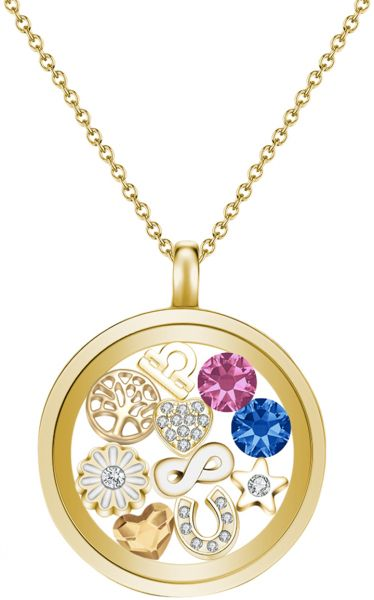 Mestige womens gold tone plated floating charm pendant necklace mestige womens gold tone plated floating charm pendant necklace aloadofball Image collections