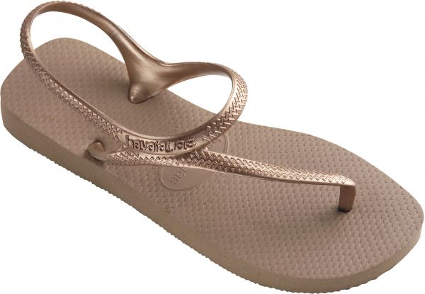 8ed521dd7409 Havaianas Rose Gold Flat Sandal For Women