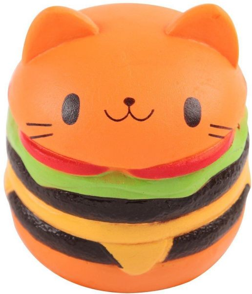 Squishy Hamburger : Squishy Toy Slow Rising Cat Burger, price, review and buy in Dubai, Abu Dhabi and rest of United ...