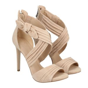 Women Sandals Heel For Guess Brown cuTlFK1J3