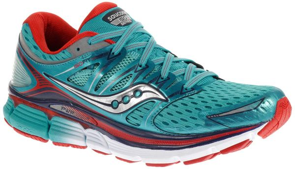 Saucony Triumph Iso Training Shoes for Women, Dark Blue/Red