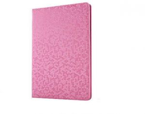 Folding Smart Leather Case Stand Dormancy Slim Flip Cover for iPad Pro 9.7Inch IPAD22 pink ,vtop
