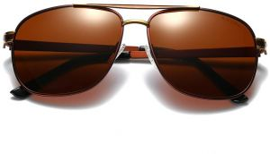 bc3390c415 Brown new fashion big frame men sunglasses Outdoor HD Driving Goggles