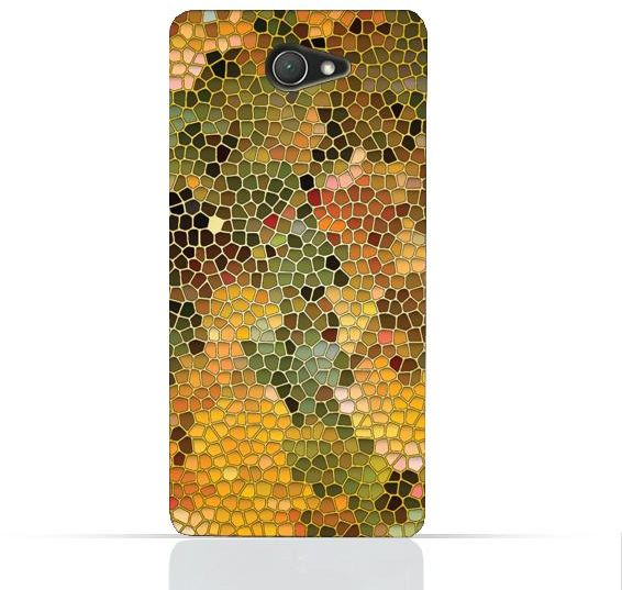 Sony Xperia E4 TPU Silicone Case with Stained Glass Art Design | Souq - UAE