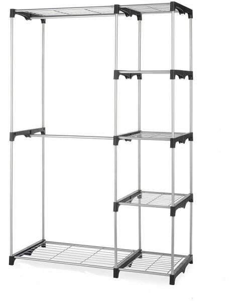 free standing closet rack metal wardrobe organizer souq uae. Black Bedroom Furniture Sets. Home Design Ideas