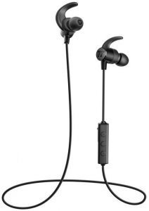 b36357b8a16 TaoTronics Bluetooth In Ear Headphones Wireless Headset Sports Magnetic  Earphones with Built-in Mic (Sweatproof with IPX5 Splash Proof Rating, aptX  Stereo, ...