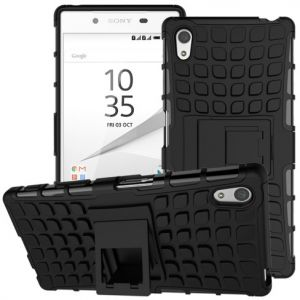Detachable Anti-slip PC + TPU Hybrid Case for Sony Xperia Z5 / Z5 Dual - Black