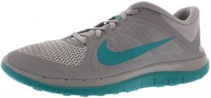 new product cf962 ac2fe Nike Free 4.0 V4 Running Shoes for Women, Wolf Grey Turbo Green White