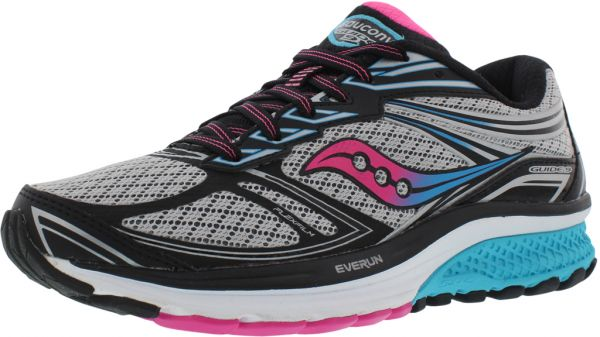 Saucony Guide 9 Running Shoes for Women, Grey/Blue/Pink