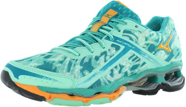 Mizuno Wave Creation 15 Running Shoes for Women, Mint/Teal/Marigold