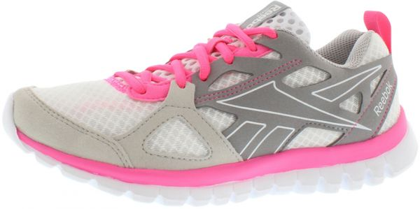 06588addf30d Reebok Sublite Prime Running Shoes for Women - White Steel Grey Pink ...