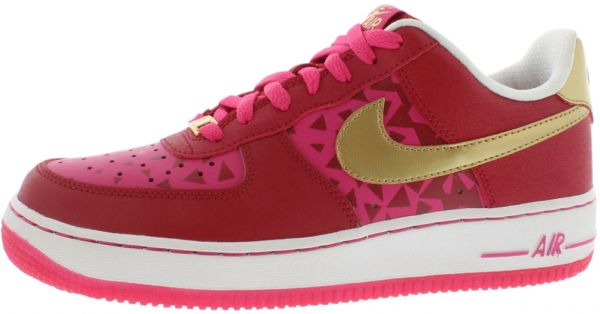 half off d6e5b 5c093 Nike Air Force 1 Running Shoes for Girls, Gym Red Metallic Gold Vivid Pink    Souq - UAE
