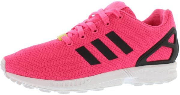 new styles 49d02 340b1 adidas ZX Flux K Running Shoes for Girls, Soft Pink Black White   Souq -  Egypt