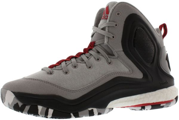 c2dad8d0565a ... buy adidas d rose 5 boost basketball shoes for boys grey black white  red 65a8c a02e6 ...