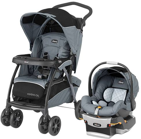 Souq Chicco Cortina Cx Travel System Stroller Iron Uae