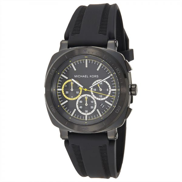9191d045c657 Michael Kors Men s Black Dial Silicone Band Watch - MK8554