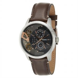 Fossil Men s Black Dial Leather Band Watch - ME1163 ceaee97ee55