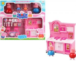 Peppa Pig Kitchen Set Toy With Action Figure For Kids Children