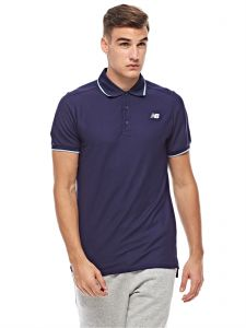 New Balance Polos for Men - Navy