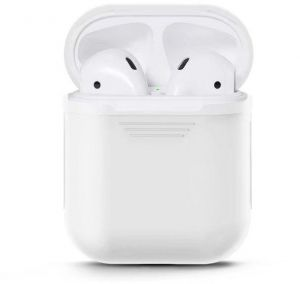 AirPods Case Soft Silicone Charging Cover Pouch Protective Case Skin Sleeve -White