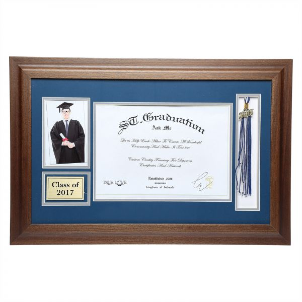 St Grad Wooden 2017 Certificate Frame With Student Picture And