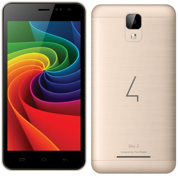 Four S185 Sky 2 Dual SIM - 8GB, 1GB RAM, 3G, Gold, price, review and buy in  Dubai, Abu Dhabi and rest of United Arab Emirates | Souq.com