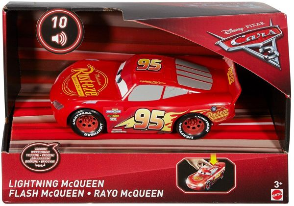 Sounds Lightning McQueen Film- & TV-Spielzeug Mattel FDD55 Disney Cars 1:21 Lights u