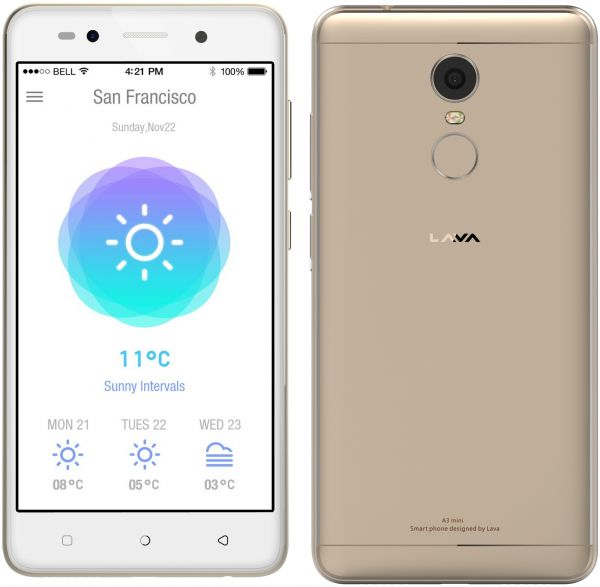 Lava A3 mini Dual SIM - 16GB, 2GB RAM, 4G LTE, Gold, price, review and buy  in Dubai, Abu Dhabi and rest of United Arab Emirates | Souq.com