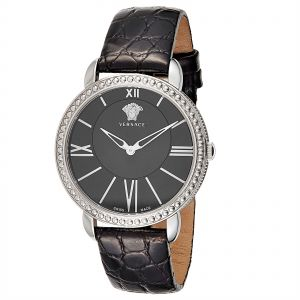b90dcc97a21a9 Versace Krios Women s Black Dial Leather Band Watch - M6Q99D008 S009